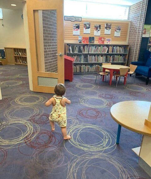 The children's book section at S. Walter Stewart Library.