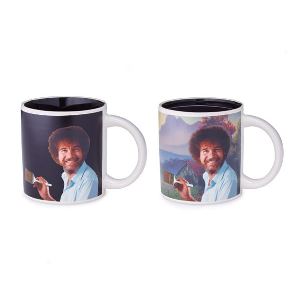 Bob Ross' mellow calm personality is perfect for people who are grouches before they have their morning coffee. And this<a hr