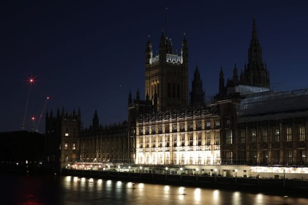 LONDON, ENGLAND - OCTOBER 22: A general view of the Houses of Parliament on October 22, 2019 in London,...
