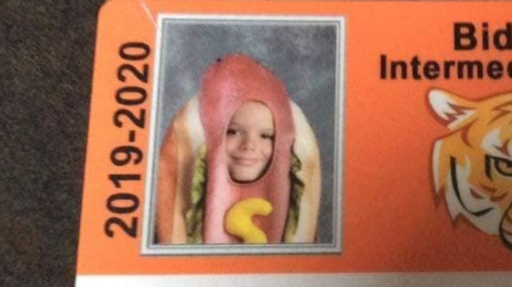 Parents Dare 9-Year-Old To Dress As A Hot Dog On Picture Day