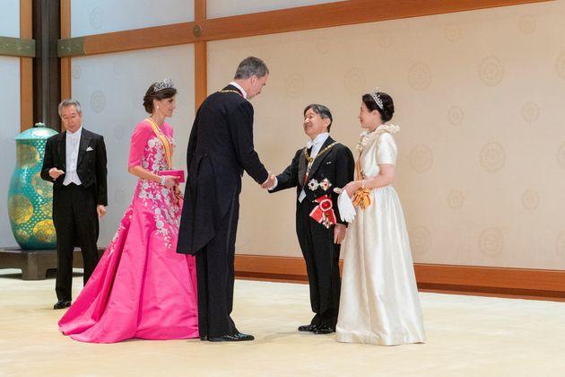 スペインのフェリペ6世国王夫妻を歓迎する天皇、皇后両陛下