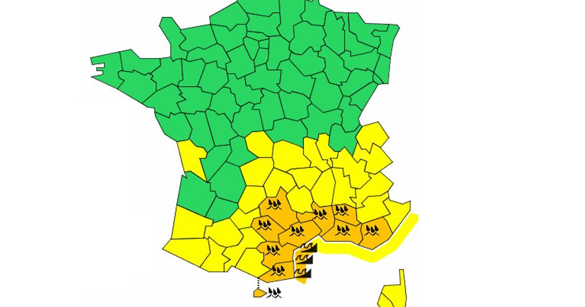 L'alerte orange pluie et inondations étendue à 9 départements dans le Sud