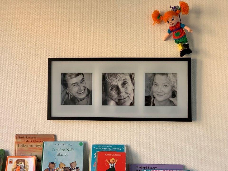 '말괄량이 삐삐' 작가인 아스트리드 린드그렌 등 여성 작가들의 사진이 액자에 걸려 있다. 이갈리아 원장 로따는