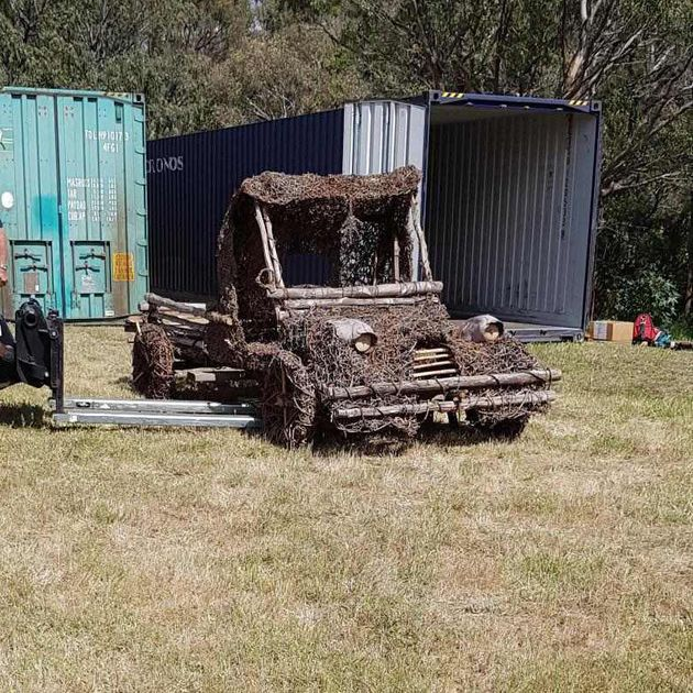 This vintage bush truck will exhibit at Bondi's Sculpture by the