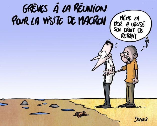Pour Macron, on n'avait jamais vu une grève aussi générale à La Réunion