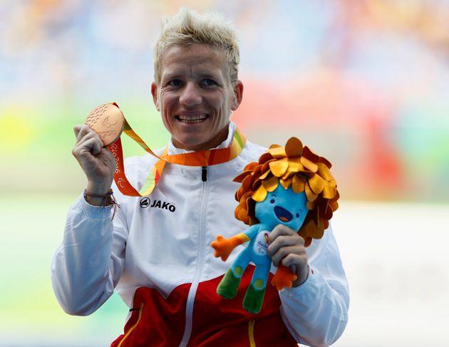 2016 Rio Paralympics - Athletics - Women's 100m - T52 Final - Olympic Stadium - Rio de Janeiro, Brazil...