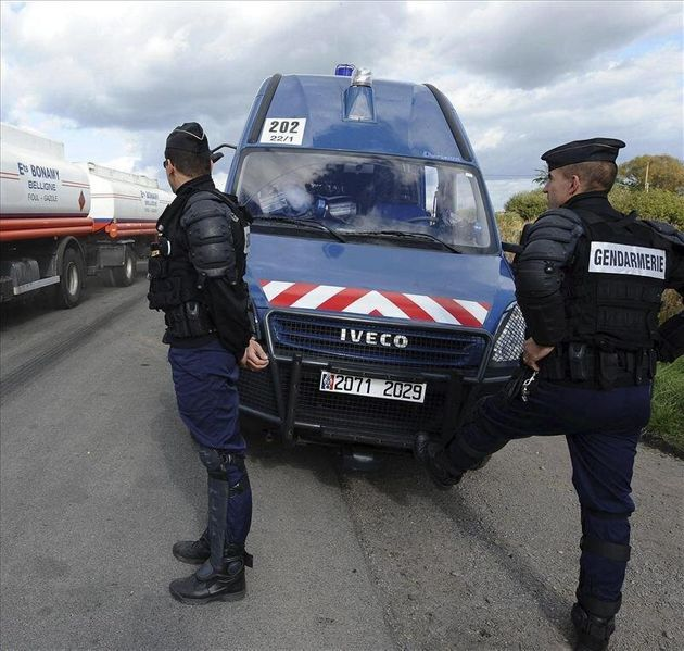 Gendarmes, en una imagen de