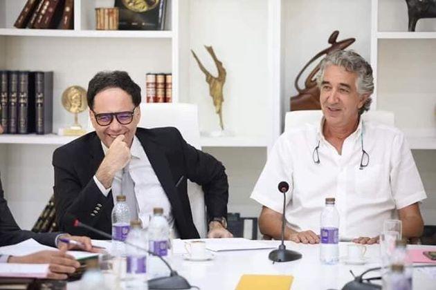 Slim Maherzi en compagnie du ministre de la