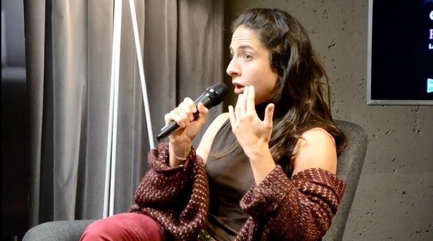 La escritora Cristina