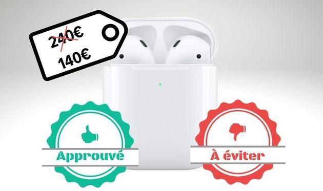 Les AirPods 2 avec boîtierà rechargement par induction sont à 240 euros sur le site...