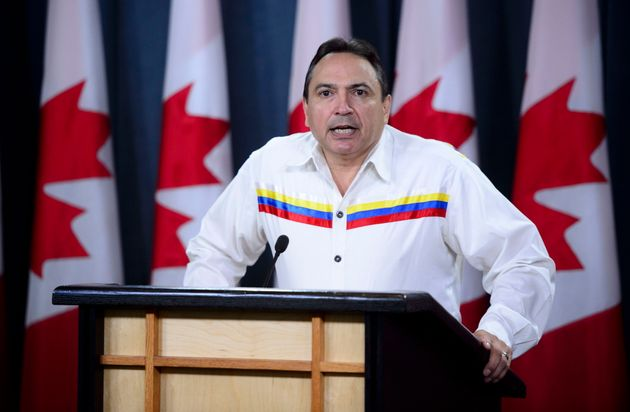 Assembly of First Nations National Chief Perry Bellegarde appears at a news conference in Ottawa on Sept....