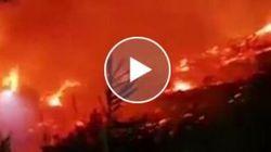 Inferno di fiamme e vento in Sardegna. Evacuati 250 turisti da un resort