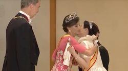 Letizia descoloca a la emperatriz de Japón con este gesto durante su