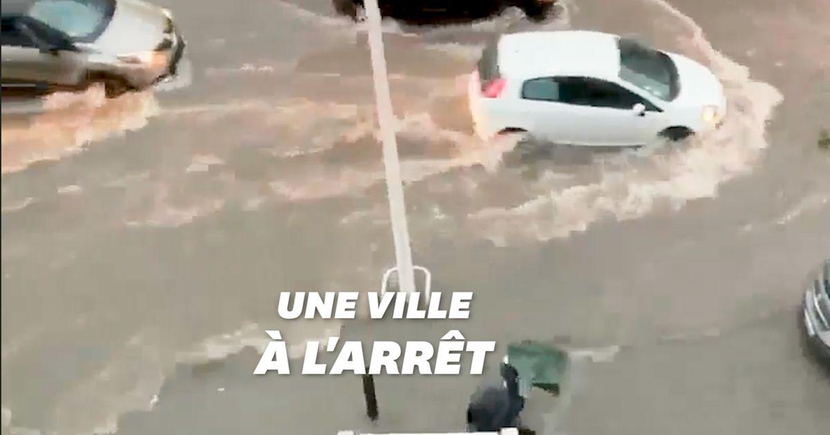 Les images des violents orages à Marseille qui ont surpris les habitants