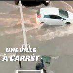 Les images du violent déluge qui s'est abattu sur