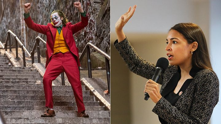 """""""Joker"""" and Alexandria Ocasio-Cortez are kindred spirits in their affection for the Bronx stairs featured in the movie."""