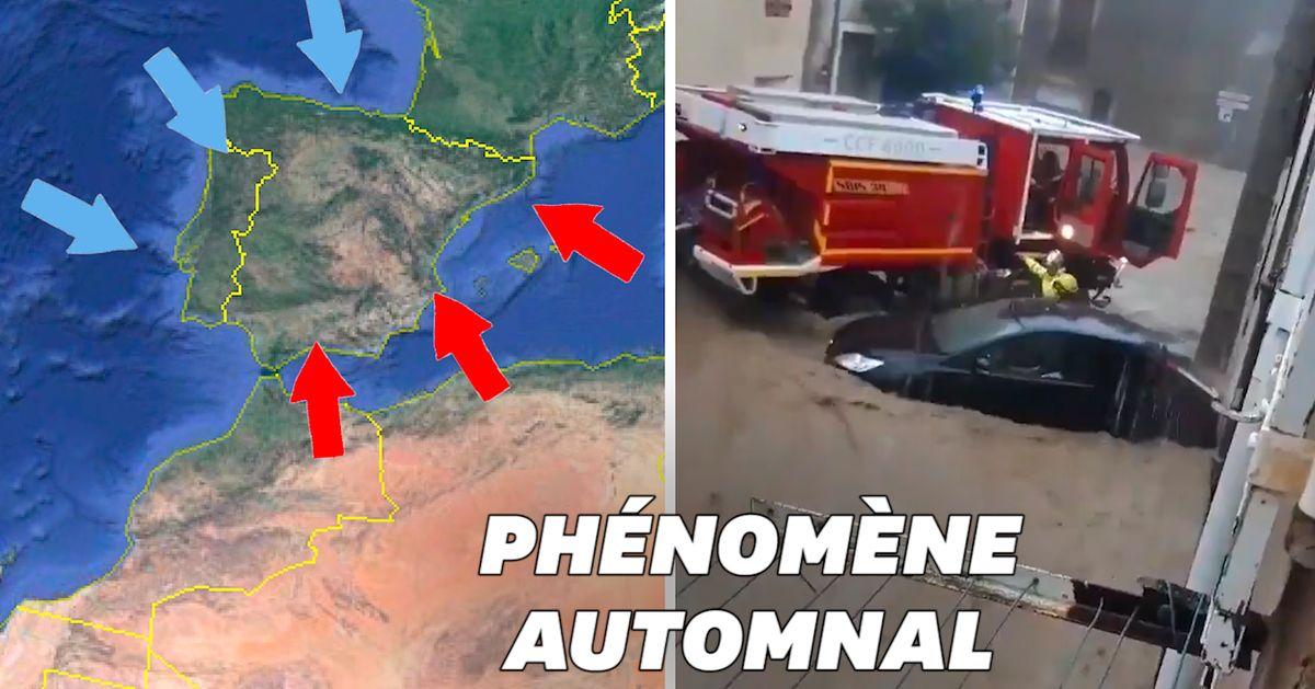 """Quel est cet """"épisode méditerranéen"""" qui frappe le Sud de la France?"""