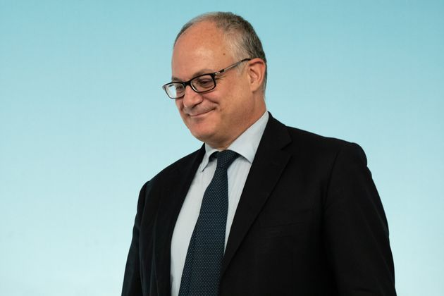 CHIGI PALACE, ROME, ITALY - 2019/09/30: The Minister of Economy and Finance, Roberto Gualtieri, at the...