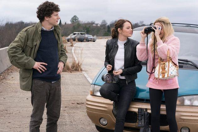 Jesse Eisenberg, Emma Stone eZoey Deutch (a única novidade de