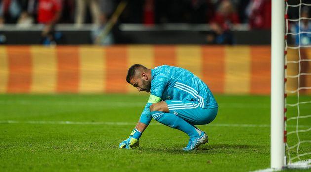 Anthony Lopes après le deuxième but du Benfica Lisbonne lors de la 3e journée de...
