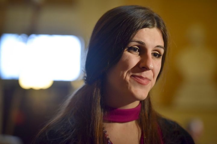 Del. Danica Roem pictured on her first day in office during the opening session of the House of Delegatesat the Virgini