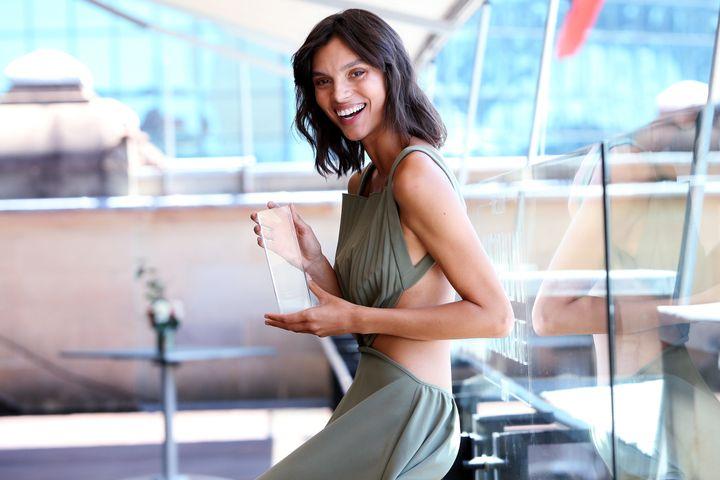 SYDNEY, AUSTRALIA - OCTOBER 23: Model of the Year winner Charlee Fraser poses at the Australian Fashion Laureate 2019.