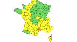 Deux départements en alerte orange aux pluies et
