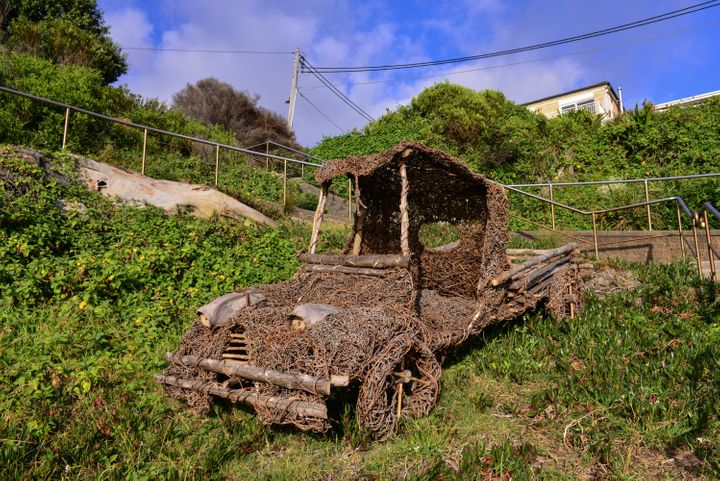 This vintage bush truck will exhibit at Bondi's Sculpture by the Sea.