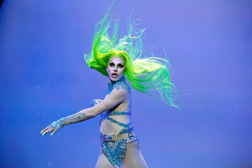Aquaria performs during RuPaul's Drag Race: Werq The World 2019 at Hammerstein Ballroom in New York