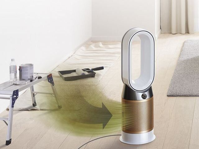 The Dyson Pure Hot and Cold air purifier comes with a heater built in.