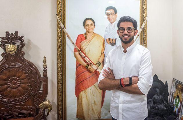 MUMBAI, INDIA - OCTOBER 13: Yuva Sena President Aaditya Thackeray at Matoshree, Bandra on October 13,...