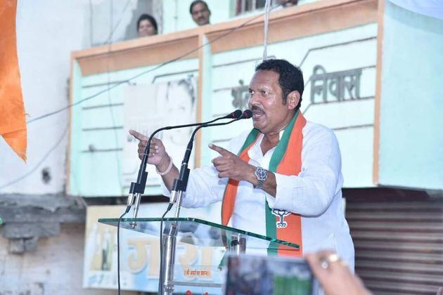 Udayanraje Bhonsle addressing a