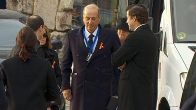 Imagen de los familiares de Franco, en el Valle de los