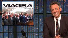Seth Meyers Fetzen Amtsenthebung Zimmer-Storming Republikaner Mit Viagra Gag
