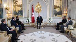 Aussitôt investi, Kais Saied rencontre les présidents des Chambres des représentants et des conseillers marocains et les repr...