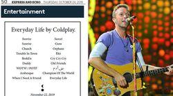 I Coldplay svelano il nuovo album con un'inserzione su un giornale (sopra ad un bagaglio in