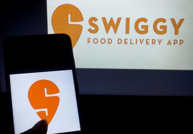 KOLKATA, INDIA - 2019/06/30: In this photo illustration a famous food ordering application Swiggy logo...