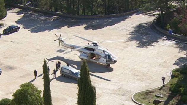 Los restos de Franco ya están junto al helicóptero que los llevará a