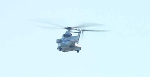 El helicóptero ya vuela a