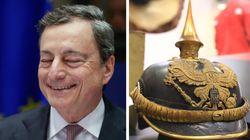 Il giornale tedesco rivuole l'elmetto prussiano che gli regalò nel 2012, ma Draghi: