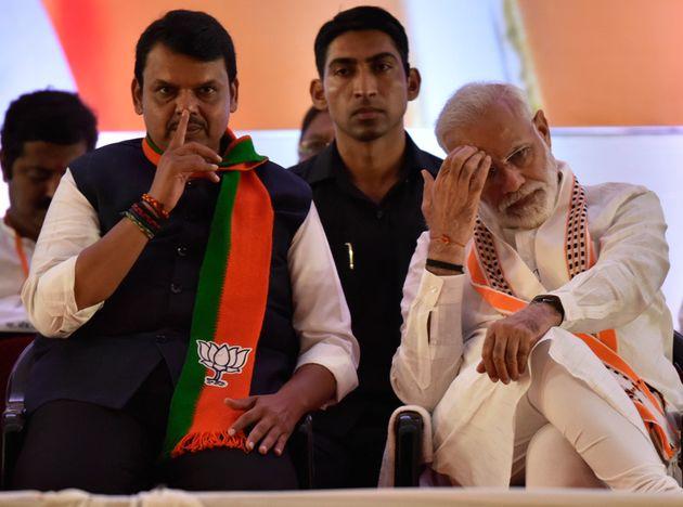 Prime Minister Narendra Modi with Maharashtra CM Devendra Fadnavis in a file