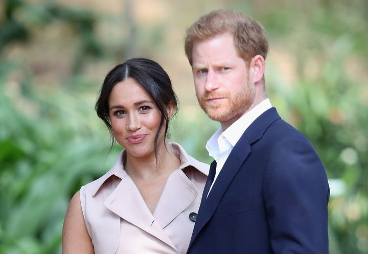The Duke and Duchess of Sussex attend a Creative Industries and Business Reception on Oct. 2 in Johannesburg, South Africa.&n