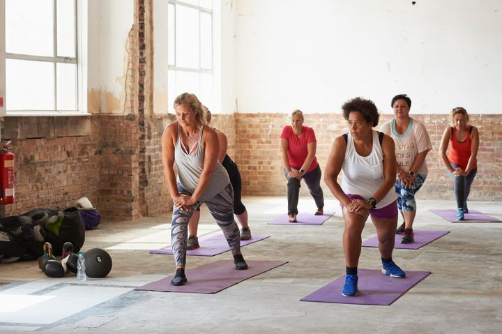 If you want to try a workout class but feel shy, go with a friend and pick a spot at the back so you can get used to the environment.