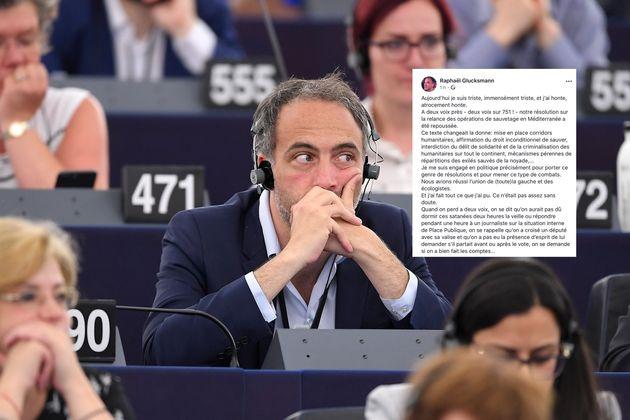 Raphaël Glucksmann lors d'une session au Parlement