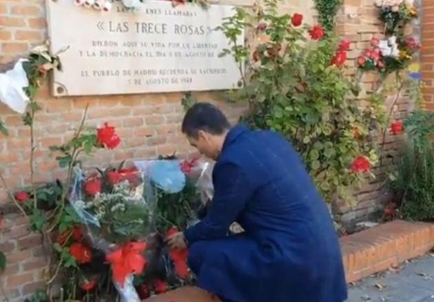 Pedro Sánchez homenajea a las Trece