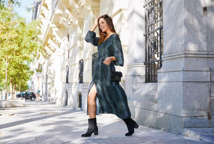 Rocío Osorno con el vestido de Carrefour Tex.