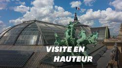 Les images féeriques du Grand Palais vu du ciel grâce à un