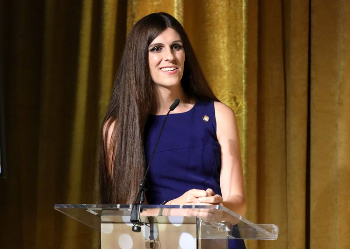 Danica Roem speaks at TLC's Give a Little Awards 2019 in October in New York City.