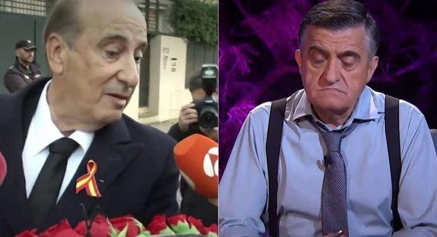 Francis Franco, nieto del dictador Franco, y el presentador de El Intermedio El Gran