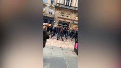 Saluti romani anche a Glasgow: tifosi laziali in marcia nella città